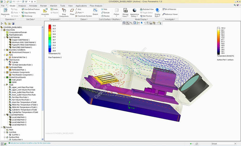 Mentor Graphics FloEFD Standalone + For CATIA & Creo & NX & Solid Edge v16.2.3828 x64 Crack