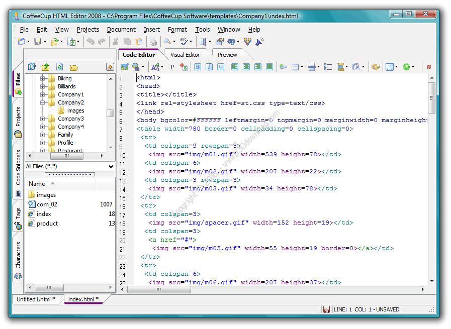 CoffeeCup HTML Editor v16.1 Build 808 Crack