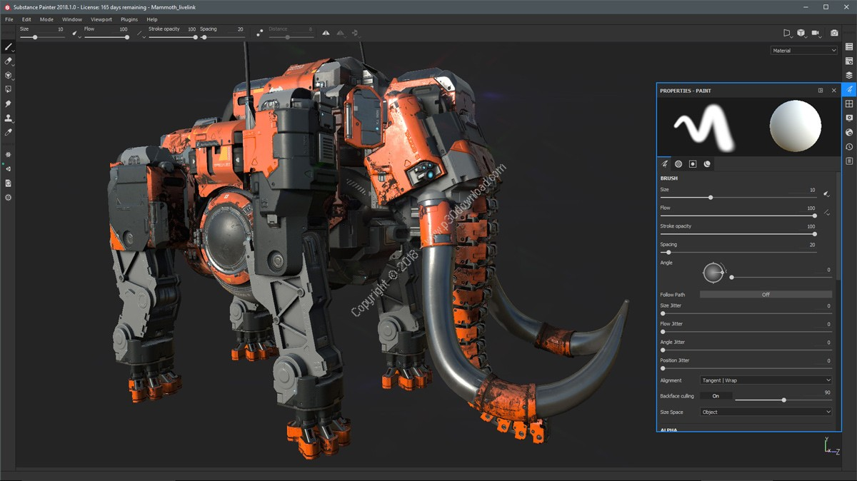 Allegorithmic Substance Painter v2018.1.1 Build 2167 x64 Crack