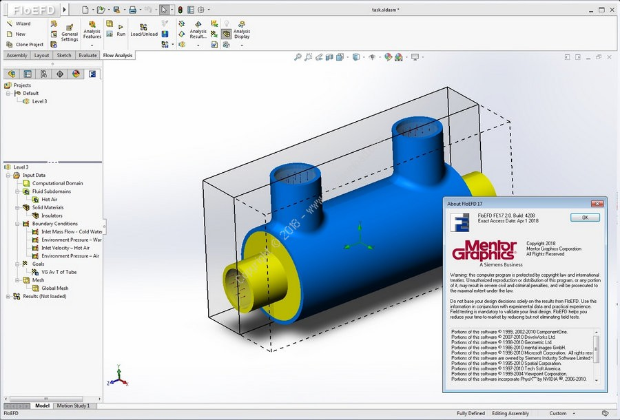 Mentor Graphics FloEFD Standalone + For CATIA & Creo & NX & Solid Edge v17.2.0.4208 x64 Crack