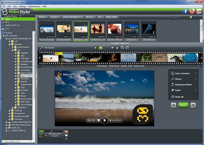 Ashampoo Video Styler 1.0.1 - Edit And Effect On Videos Crack