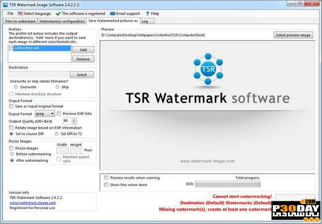 TSR Watermark Image Pro 3.5.5.9 - Put Watermark On Pictures Crack
