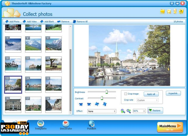 ThunderSoft Slideshow Factory 3.5.5.1 - Create Slideshows Flash Crack