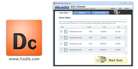 WinASO Disk Cleaner 3.0.0 + Portable Crack